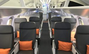 The revamped cabin looks, frankly, more like business class cabins we've seen. Image: John Walton