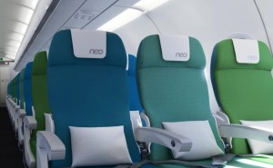 A key safety question is just how close these economy seats can be squeezed together to allow for evacuation. Image: Airbus