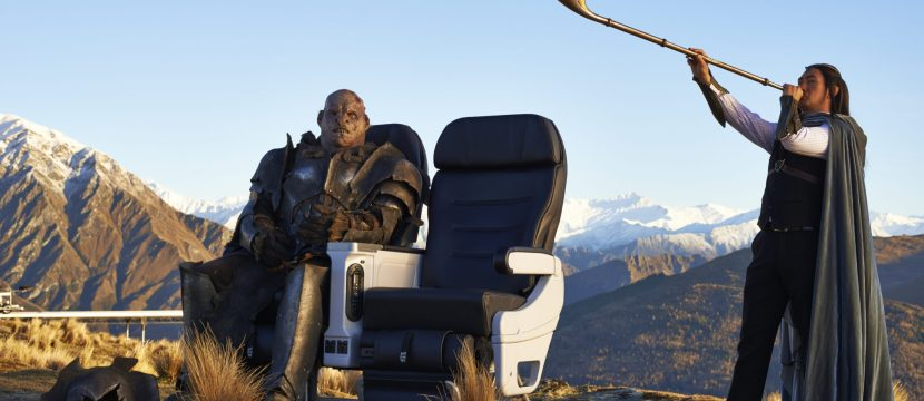 Orcs clearly like a bit more space in Air New Zealand's 787-9 premium economy seats. Image: Air NZ