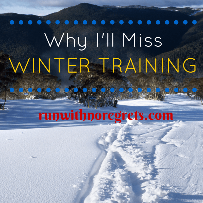 Running in the winter has SO many benefits, believe it or not! Learn why you should train in the winter and more running tips at runwithnoregrets.com!