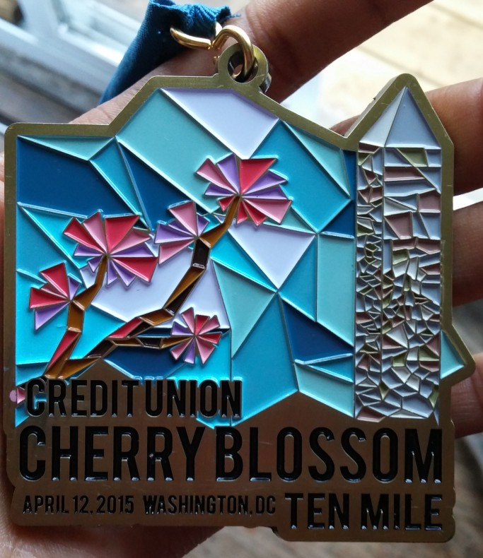 Beautiful Cherry Blossom medal!