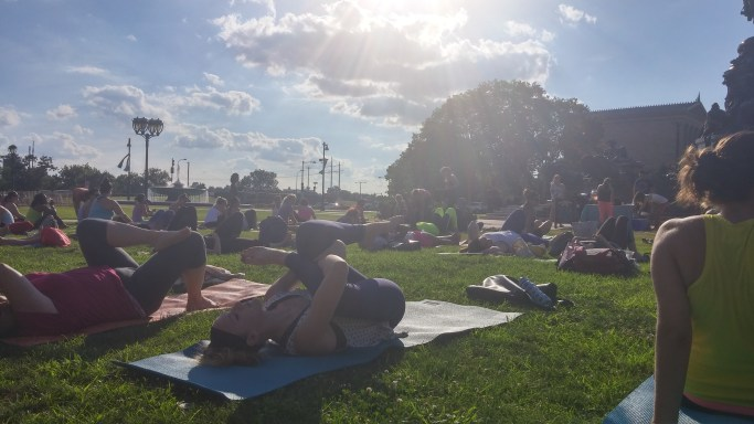 Yoga at the Oval