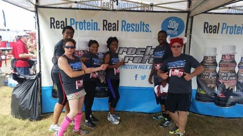 Posing with Rockin Refuel before the race!