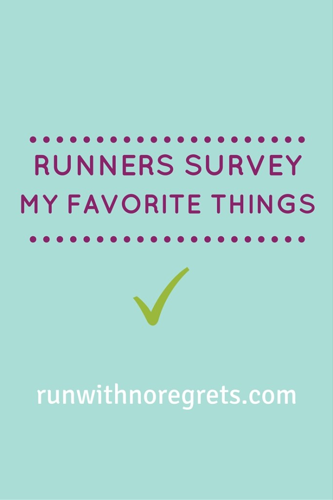 Filling out this fun survey about running - check it out!