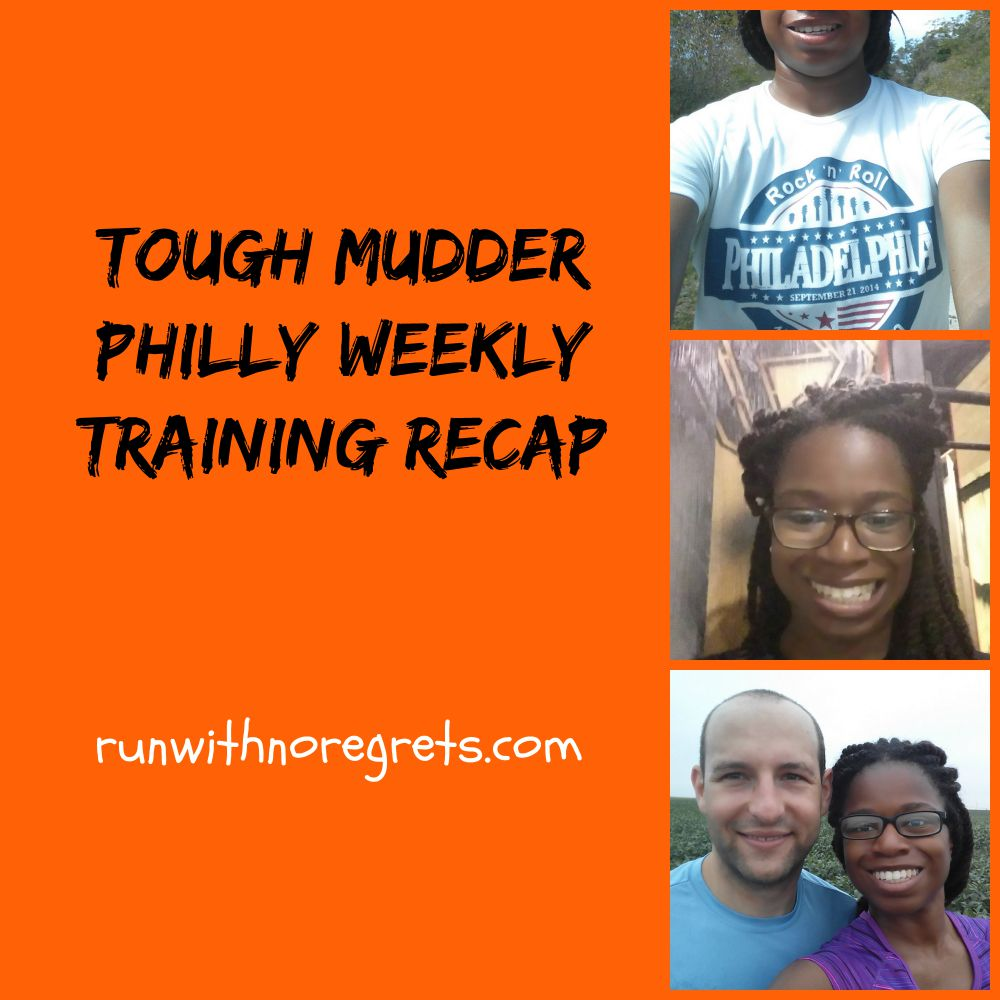 Another fun-filled week of training for Tough Mudder!