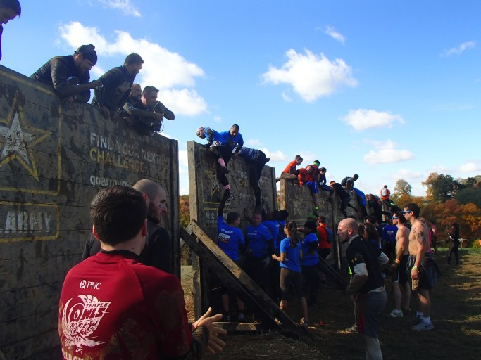 Climbing the wall!