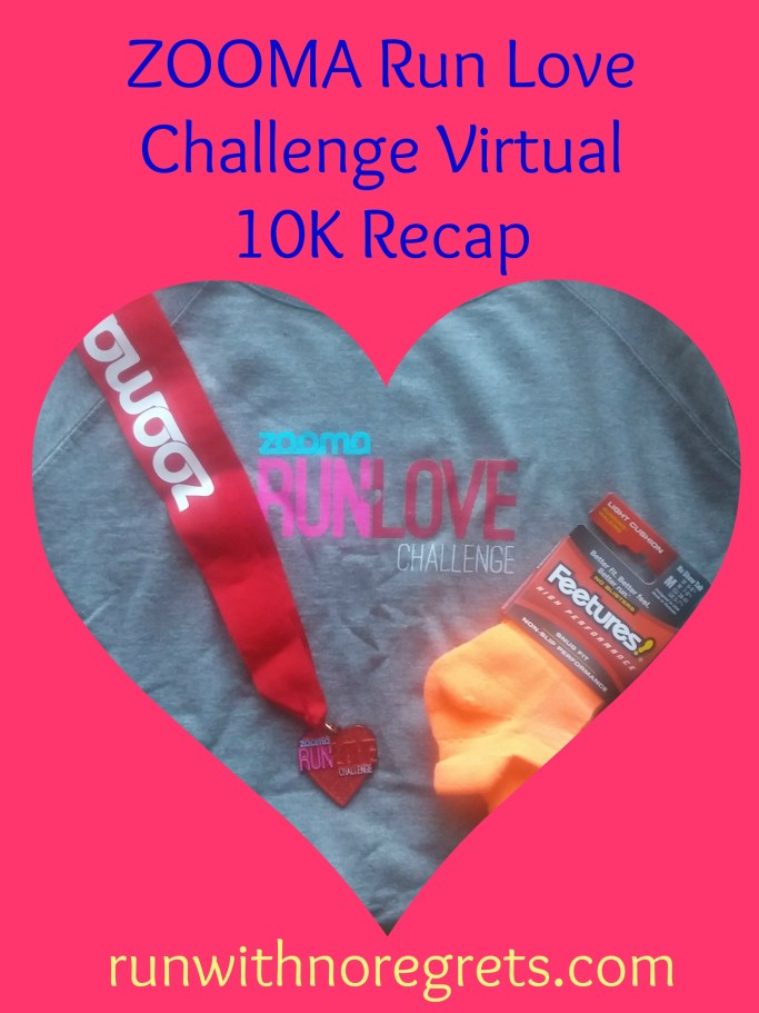 The ZOOMA Women's Race Series organized its first Virtual Race over the Valentine's Day Weekend - the ZOOMA Run Love Challenge! I'm sharing my race recap of the 10K! More running tips on runwithnoregrets.com