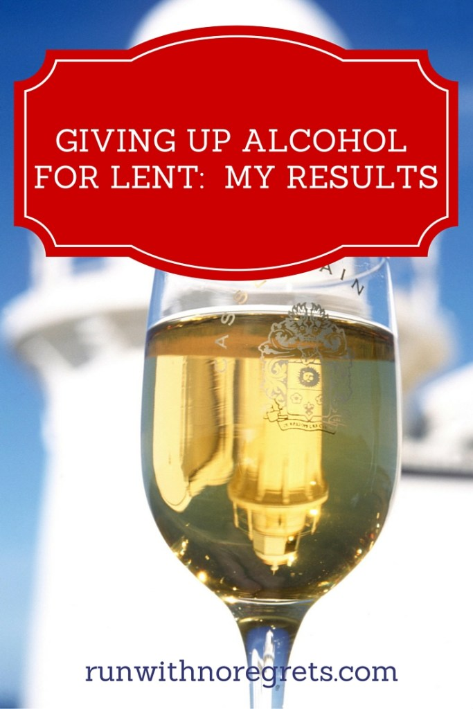 For the first time, I decided to give up drinking alcohol for Lent. And I made it through successfully! Check out what I learned in the process. More tips on health and fitness at runwithnoregrets.com!