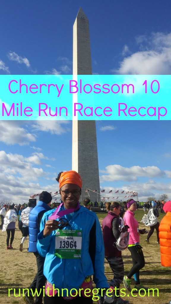 I had a wonderful experience at the 2016 Credit Union Cherry Blossom 10 Mile Run in Washington, DC! Check out my race recap and more running fun at runwithnoregrets.com!