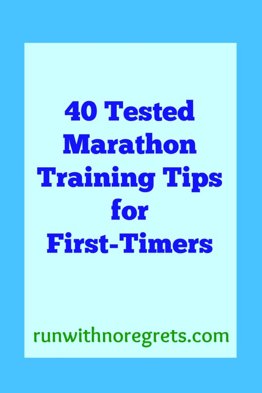 Training for your first marathon leaves you with so many questions! Are you starting your very first round of marathon training? I am! And I've collected 40 marathon training tips for first-timers from your favorite running bloggers to help you on your journey! Get even more running tips at runwithnoregrets.com!
