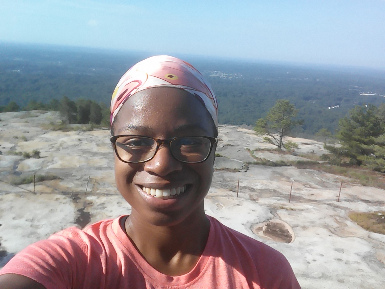 On the top of Stone Mountain...beautiful!