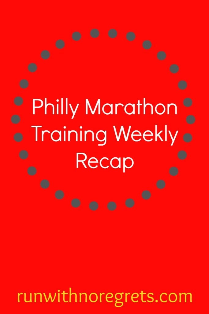 I'm training for my very first marathon, the Philly Marathon! Check out my weekly recap of my running and working out and find more running tips at runwithnoregrets.com!