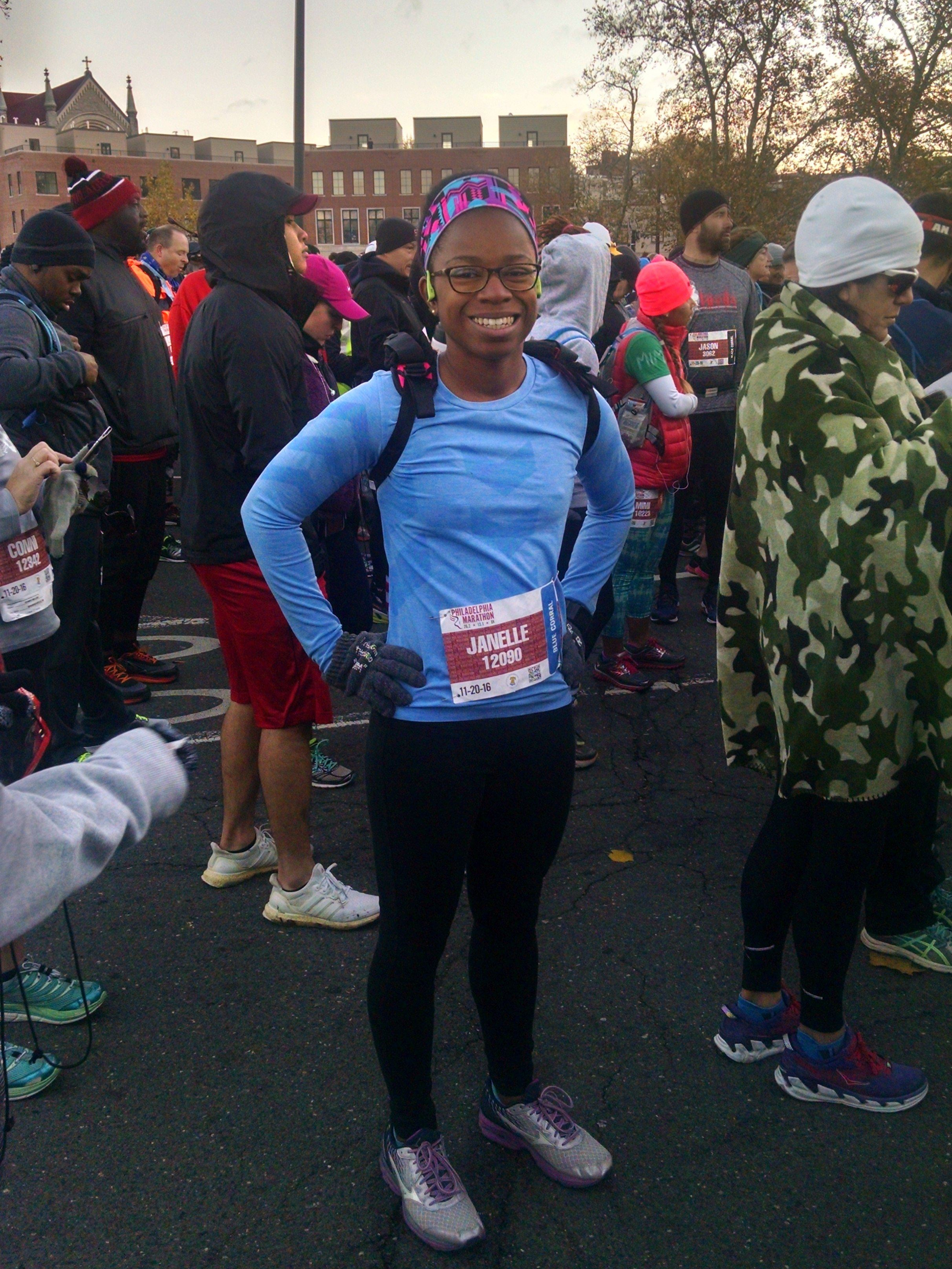 Me at the start line