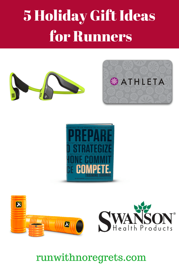 Are you still doing holiday shopping but don't know what to pick up for your runner friend/loved one? Check out these 5 ideas for holiday gifts for runners! Check out more running resources at runwithnoregrets.com!