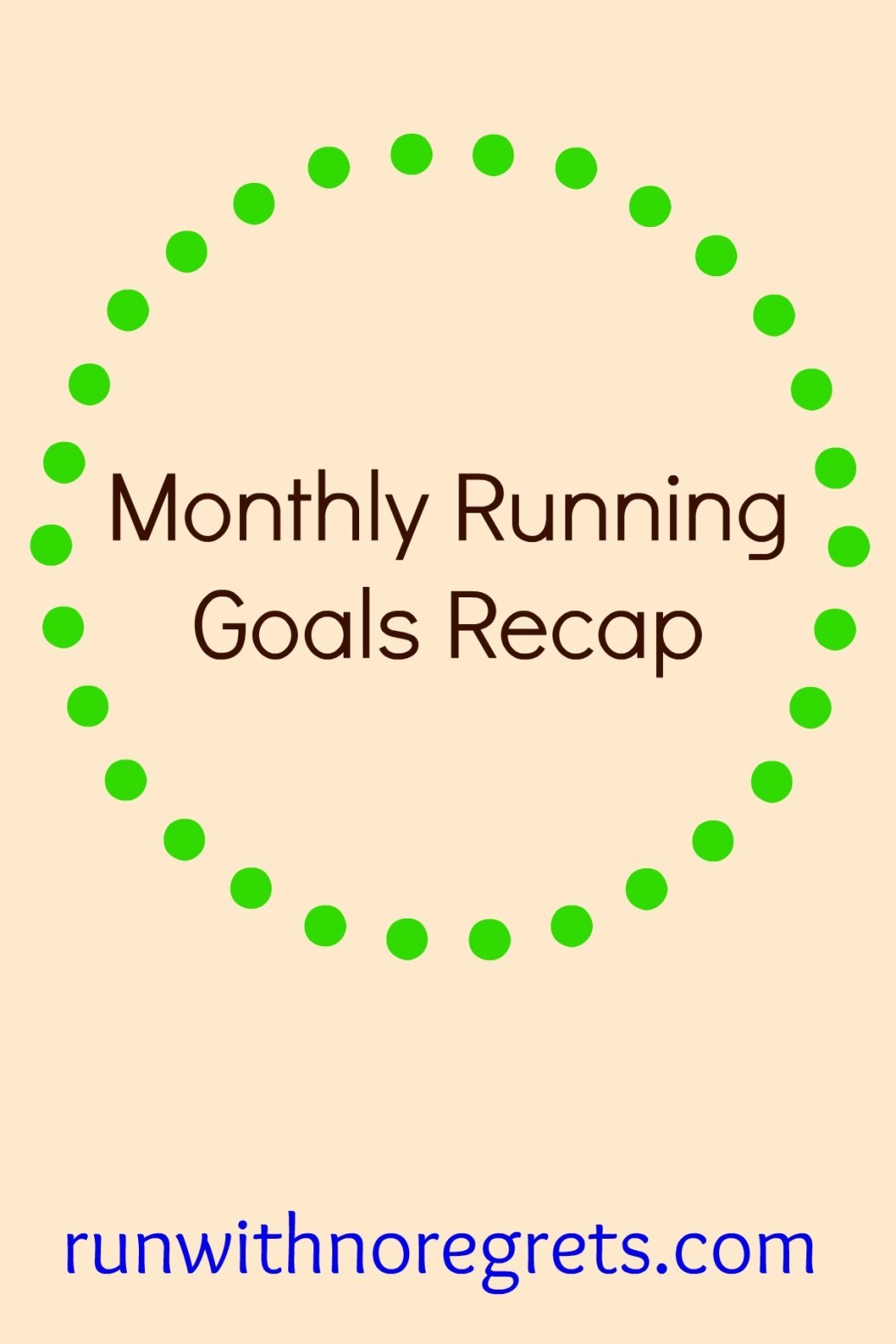 Every month I've been sharing my running goals. Check it out and more running and fitness fun at runwithnoregrets.com!