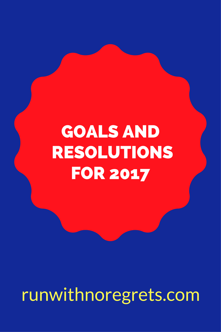 It's a New Year! I love this time because I can reset and set new goals for the year! I'm sharing my goals/resolutions for 2017! Check out more at runwithnoregrets.com!