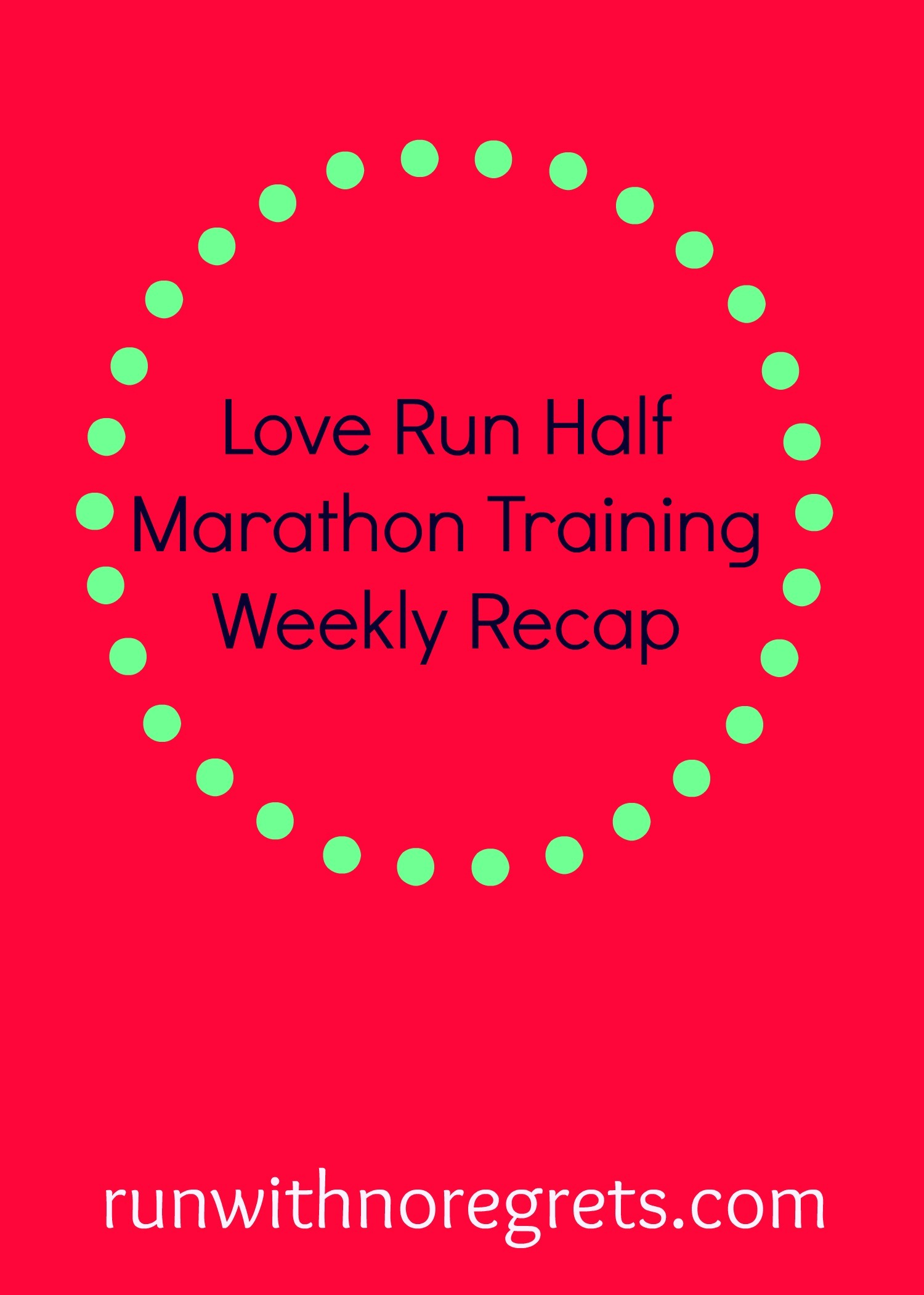 Over the next several weeks I'll be training for the Love Run Half Marathon in Philly on March 26, 2017! Check out my weekly training recap and more at runwithnoregrets.com!