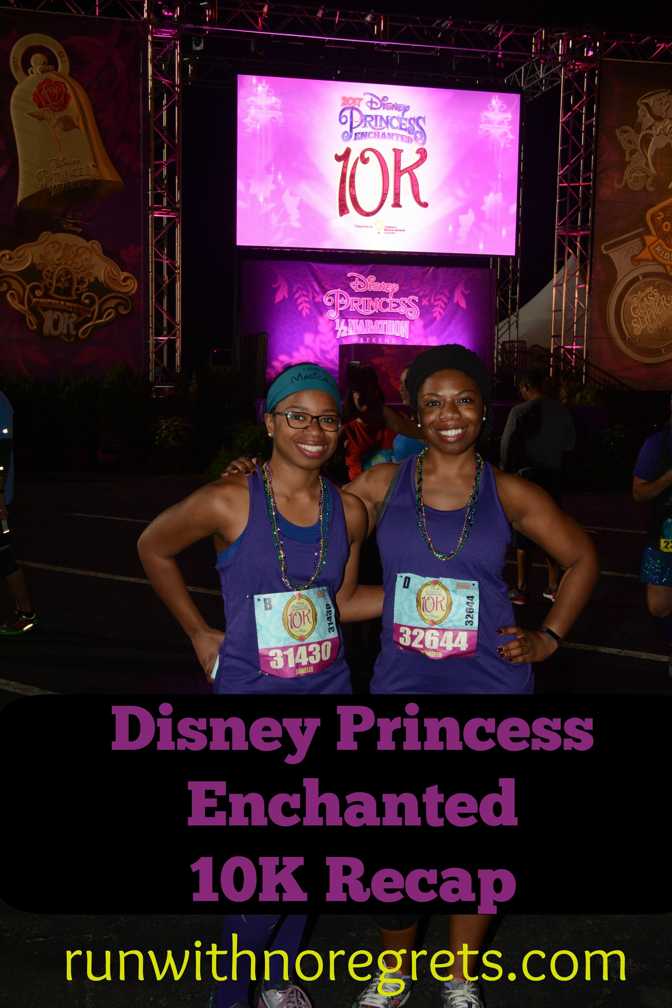 Have you ever run a race in Disney World? I'm so excited to share my experience running the Disney Enchanted 10K in 2017! Disney Princess Weekend was wonderful and we had a great time. Check out more race recaps at runwithnoregrets.com!