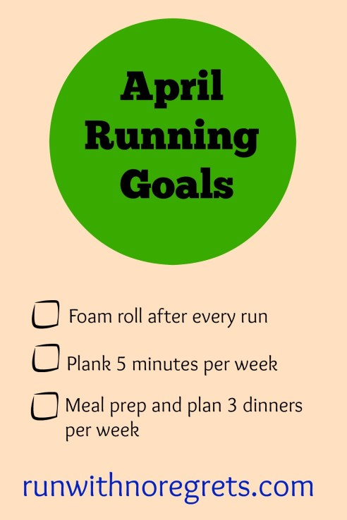 My running and fitness goals for April!