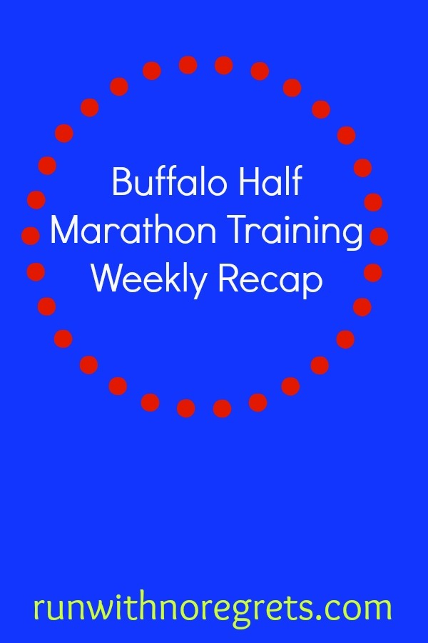 I'm training for the Buffalo Half Marathon coming up on May 28, 2017! Check out my weekly training recaps at runwithnoregrets.com!