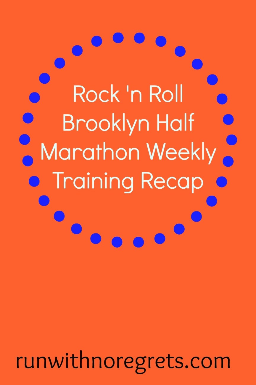 I'm currently training for the Rock 'n Roll Brooklyn Half Marathon - check out my weekly training recap and more running resources at runwithnoregrets.com!