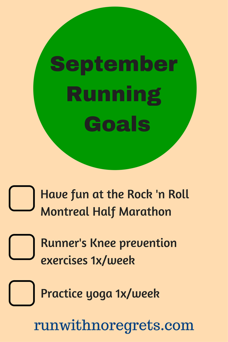 Check out my latest running goals for the month of September! Find more running talk at runwithnoregrets.com!