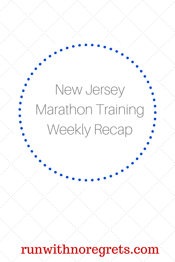 Every week, I'll be sharing my recap of training for the New Jersey Marathon, my second marathon ever! You can save $5 on registration with code NJMBibrave18! Check out more running talk at runwithnoregrets.com!