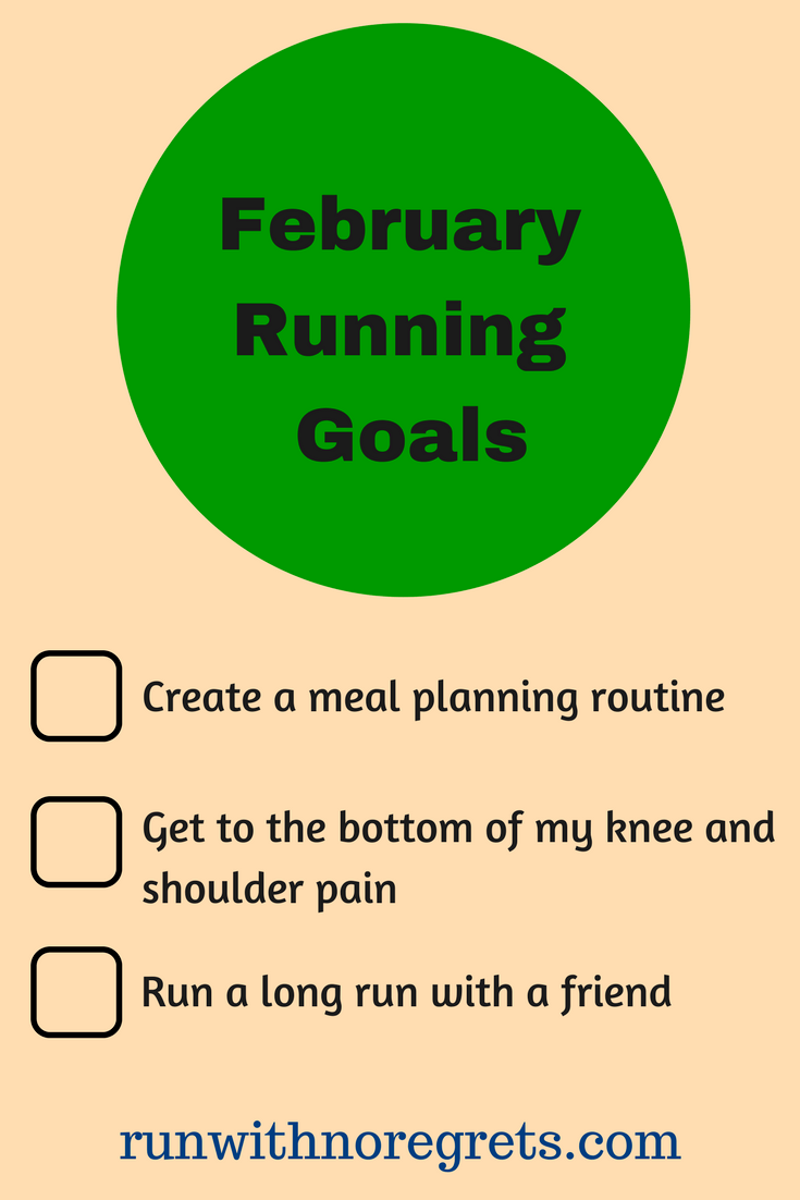 I'm sharing my running and fitness goals for February 2018! What are your goals for the month? Chat about running with me at runwithnoregrets.com! #running #fitness