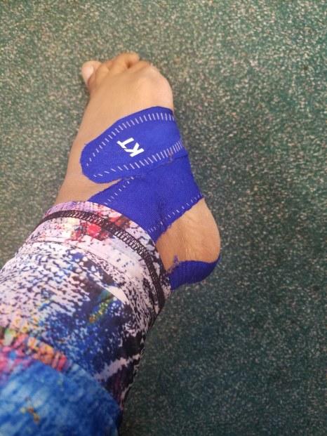 kt tape foot