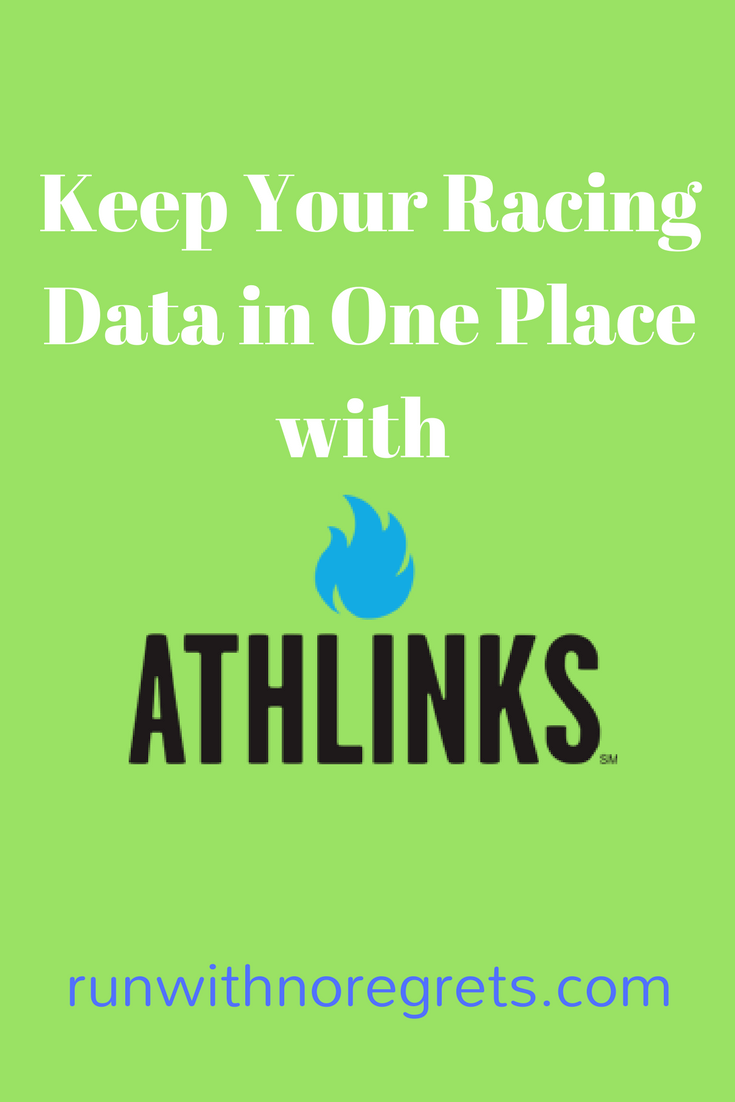 I've signed up for Athlinks - an awesome way to track your races and compete with your friends and rivals! Check out my review at runwithnoregrets.com!