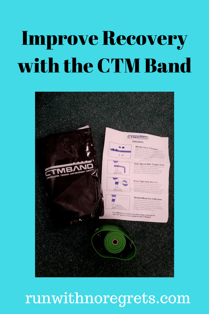 In order to stay healthy as a runner you have to keep up with recovery! Check out the CTM Band, an awesome new tool with compression, tension, and movement! Find more product reviews at runwithnoregrets.com!