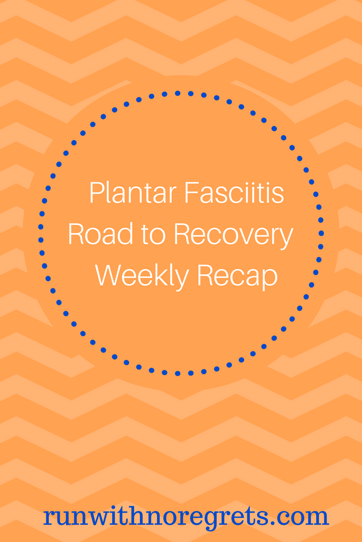 I'm sharing a weekly recap of my physical therapy and recovery from plantar fasciitis! Being injured sucks but I want to share my experiences and stay accountable!