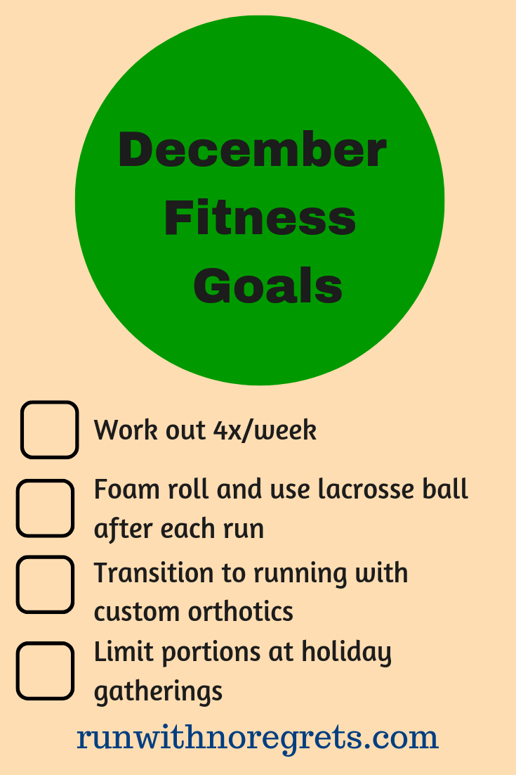 I'm sharing my fitness goals for the month of December! Check it out and more running and fitness chats at runwithnoregrets.com!