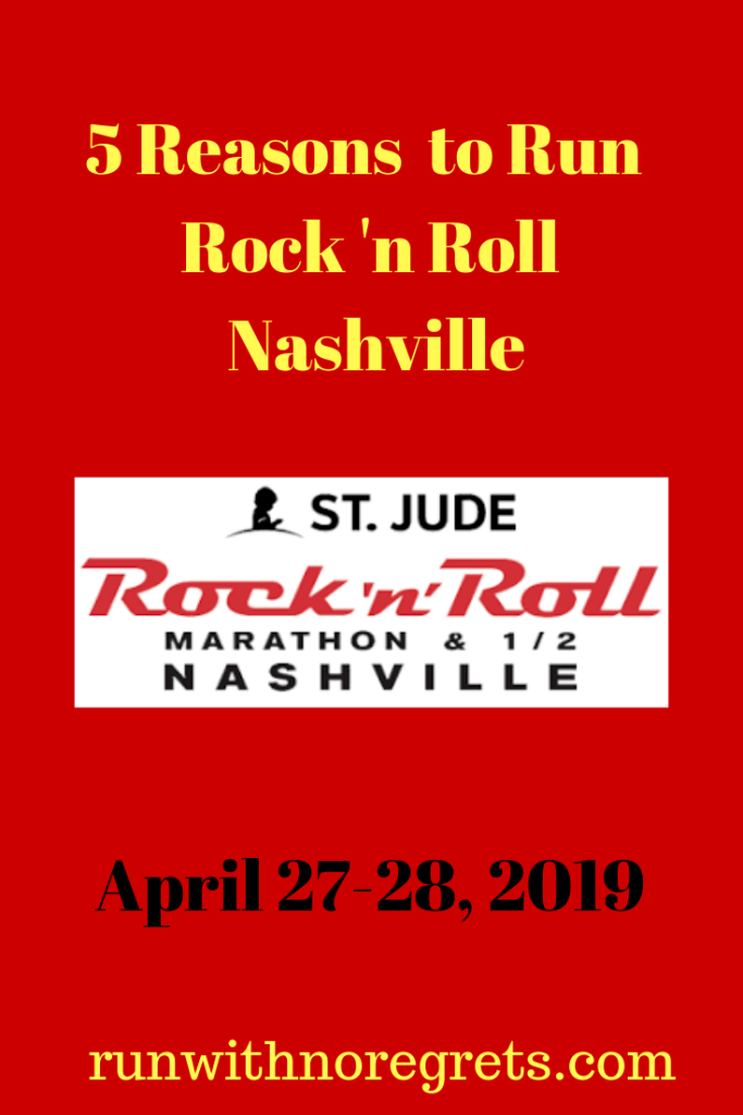 I'm sharing 5 reasons why you should check out Rock 'n Roll Nashville weekend in April!  Learn more at runwithnoregrets.com!