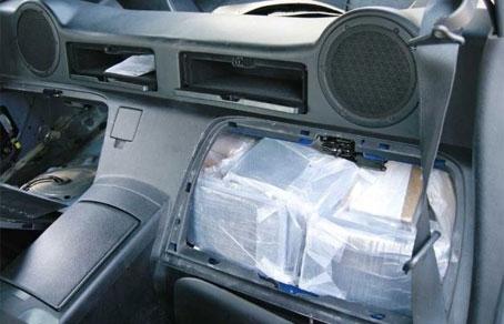 Тайники для наркотиков в дорогих машинах