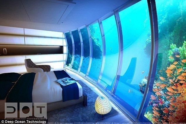 شاهد بالصور : دبي تبني أكبر فندق في العالم تحت الماء 9