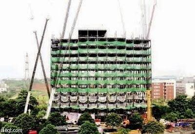 إعجاز : شاهد كيف بني الصينيون مبني من 15 طابق في أقل من يومين