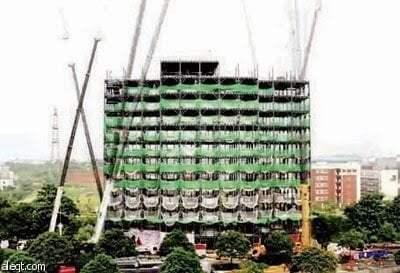 إعجاز : شاهد كيف بني الصينيون مبني من 15 طابق في أقل من يومين 1