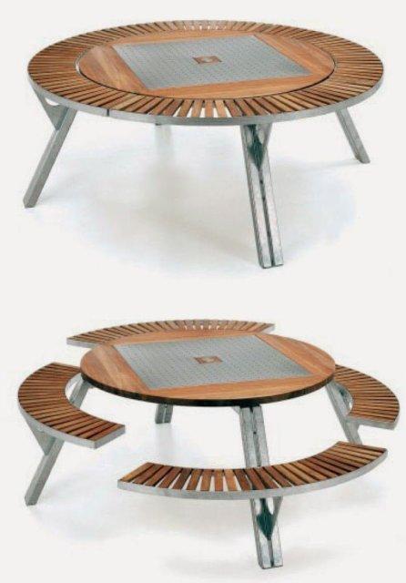 17- طاولة تتحول إلي طاولة صغيرة و مجموعة كراسي ملحقة بها