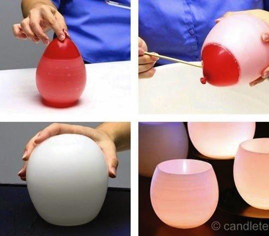 أفكار منزلية : أفكار منزلية مدهشة باستخدام بالون عادي
