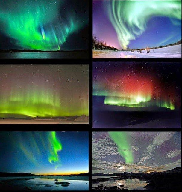 الشفق القطبي - الفجر القطبي - ظاهرة الأورورا - الأضواء القطبية