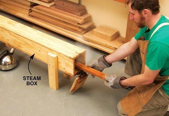 طريقة ثني الخشب باستخدام البخار والحرارة