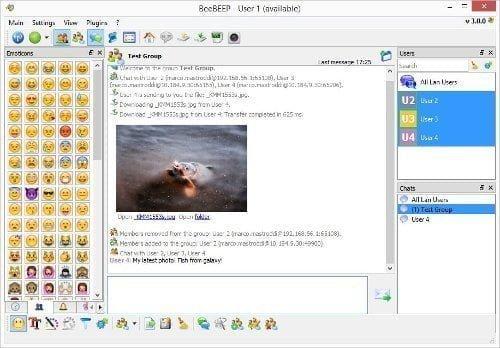 برنامج محادثة مجاني على الشبكة الداخلية LAN بدون إنترنت 2