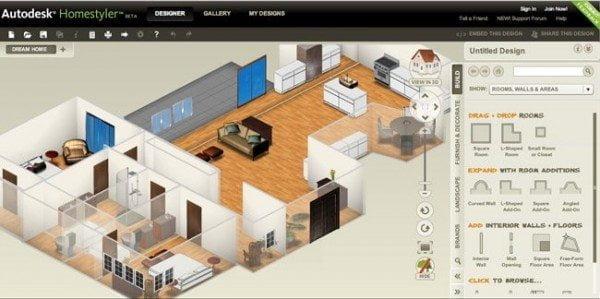 أفضل 12 برنامج و تطبيق مجاني لتصميم و فرش المنازل و المباني