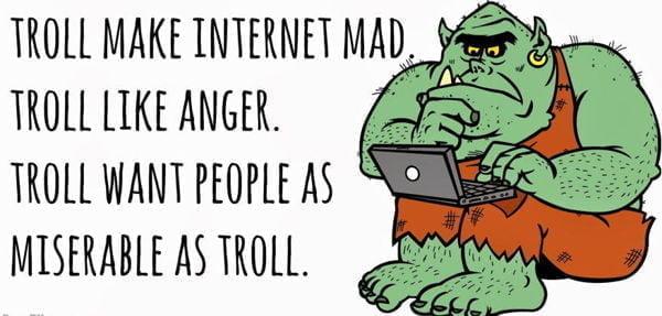 لا تطعموا المتصيدين Don't feed the Trolls 1
