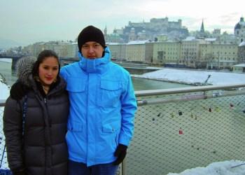 Paulina und Gustavo aus Mexiko wurden von der neuen Studiengebührenregel unangenehm überrascht. : Foto- Christoph Straub.