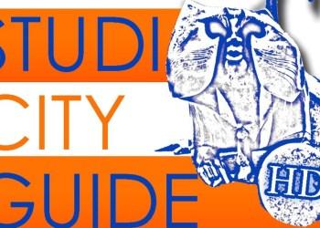 """Der Heidelberger Brückenaffe, das Logo des """"Studi City Guide""""."""