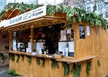 Die Bude auf dem Heidelberger Weihnachtsmarkt. Bild: Michael Abschlag.