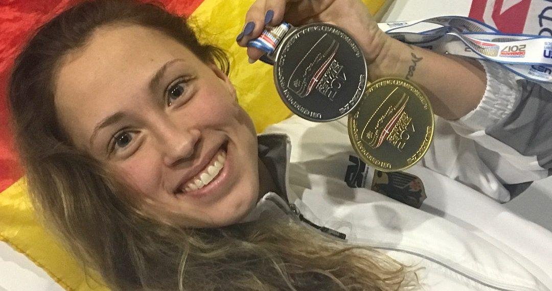 Doppelmedaille bei den Kurzbahneuropameisterschaften im Dezember 2017. Bild: privat