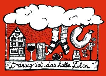 Deutsche haben international einen speziellen Ruf. Zeichnung: Anaïs Kaluza